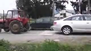 Audi A6 vs Traktör